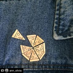 #Repost @ann_olivia  Pizza pins on etsy! Get ur self a piece #pizza #pin…