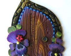 Ladybug Fairy Door Pixie Portal Polymer Clay by Claybykim on Etsy