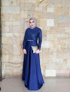 Gamis Dress Brukat, Hijab Dress Party, Hijab Style Dress, Batik Dress, Lace Dress, Dress Brokat Muslim, Dress Pesta, Muslim Dress, Kebaya Muslim
