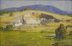Note – the Sir Arthur #Streeton oil Painting: The Lime Kiln Lilydale, 1935.  The painting is also known as 'Mitchell's Lime Quarry'. The pain...