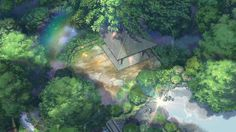 The Garden of Words (言の葉の庭 Kotonoha no Niwa) is a 2013 Japanese anime film produced by CoMix Wave Films and directed by Makoto Shinkai.Garden of Words [Blu-ray] Exorcist Movie, The Garden Of Words, Anime Places, Anime Titles, Words Wallpaper, Graphisches Design, A Silent Voice, Ghibli Movies, High Resolution Wallpapers
