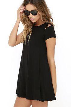 Take Effect Black Swing Dress at Lulus.com!
