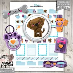 Dog Stickers, Planner Stickers, Printable Planner Stickers, Kawaii Stickers, Planner Accessories, Labrador Dog, Chocolate Labrador, Stickers