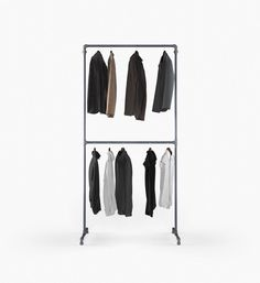 ANNA is our industrial design space saver. Anna, Clothes Rail, Wardrobe Rack, Industrial, Furniture, Collection, Home Decor, Gardening, Night Out Outfit