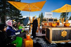 The 2012 Veuve Clicquot in the Snow event at The Little Nell. Drink Stand, Veuve Clicquot, Food Truck, Luxury Lifestyle, Party Planning, Adventure, Travel, Wines, Skiing