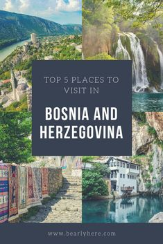 The best time to visit Balkans is now: we put together a list of Top 5 Cities To Visit in Bosnia and Herzegovina. European Destination, European Travel, Places To Travel, Places To See, Where Is Bora Bora, Sarajevo Bosnia, World Travel Guide, Travel Guides, Road Trip