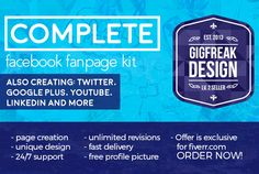 design and create your Facebook fanpage by gig_freak