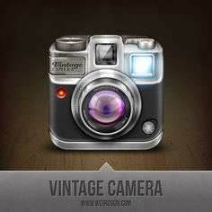 Vintage Camera #App #Icon - 30 Absolutely Epic App Icon Designs for Inspiration