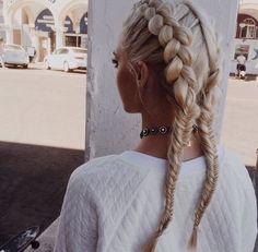 blonde, braid, braids, fishtail braids, hair, pigtails, dutch braids