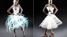 Atton Conrad, an advertising and art photographer, used light painting to dress his beautiful models to make them look even more gorgeous.