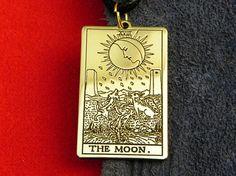 Pendant  Tarot Card The Moon Tarot 18th card