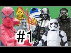#1 Abrindo brinquedos Homem Aranha Guerra nas Estrelas Disney Finn Kylo ...