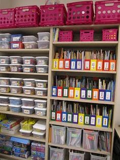 math manipulatives, files, etc