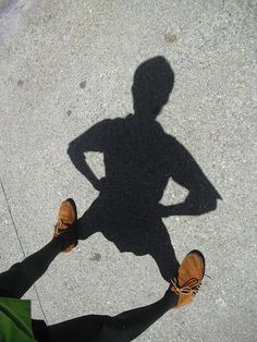 When I was little I would stand up on my parents bed and make my 'Peter Pan' pose and see my shadow on the wall....I still do hehe!!