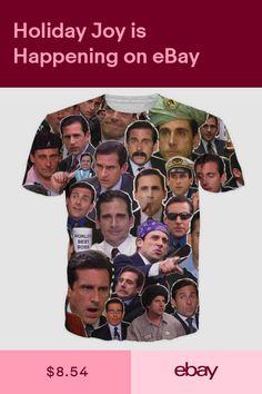2abc172c Many Faces of Michael Scott Paparazzi Mens Short Sleeve Tee T Shirts Street  Wear