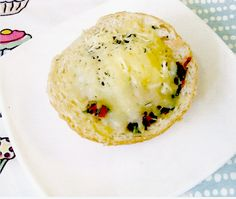 Baked Buns with Yellow Cheese, Mushrooms and Eggs