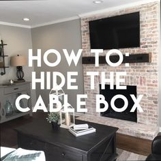 Mindfully Gray - How To: Hide the Cable Box