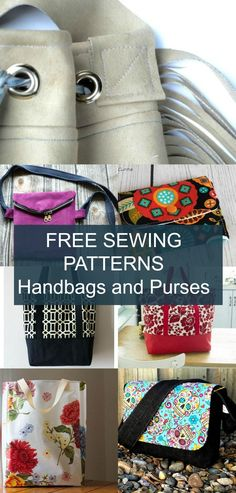 FREE PATTERN ALERT 20 Handbags and purses. Get access to 20 free sewing patterns and printable sewing tutorials to make great bag projects!