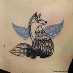 Geometric Fox Tattoo Idea