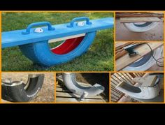 Repurpose Old Car Tires in 18 Brilliant Ways - Ritely Kids Outdoor Play, Backyard For Kids, Garden Hose, Garden Tools, Used Tires, Seesaw, Picnic Table, Old Cars, Fun Projects