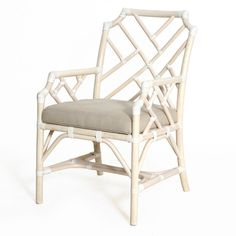 Candelabra Home Palm Beach Chippendale Arm Chair - Linen