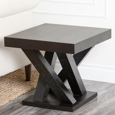Kinlin Espresso Wood End Table