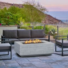 A New Fire Pit For Our Back Patio Restoration Hardware Cement - Concrete outdoor fireplace river rock fire bowl from restoration hardware