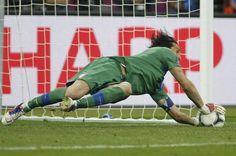 Oh, Ashley: Gianluigi #Buffon saves Cole's penalty