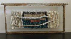 Telar en panal de abeja Weaving Wall Hanging, Weaving Art, Weaving Techniques, Textile Art, Lana, Portal, Folk, Textiles, Tapestry