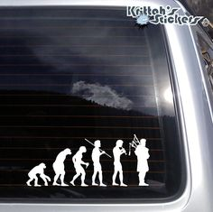 Evolution Of Bagpiper Vinyl Decal -Fits Laptop, Car Window Scottish Sticker K597