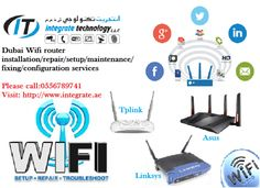Wireless router setup cabling technician in Media city Dubai