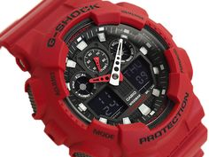 CASIO G-Shock GA-100B-4A BURNING RED Theme Magnetic Resistant