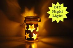 DIY Night Light! An inexpensive & easy way to make your child's room look gorgeous (& provide a little comfort to those who need it ; )