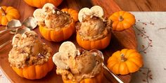 Pumpkin Spice Frozen Swirl Pumpkin Recipes, Fall Recipes, Holiday Recipes, Pumpkin Foods, Pumpkin Dishes, Christmas Recipes, Frozen Desserts, Frozen Treats, Healthy Desserts
