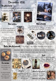 Inspiration décembre 2016. Quel feeling ? Envie de faire quoi ? Voici notre moodboard ...  Toutes les photos à retrouver sur mon profil, et ici: http://www.mrs2be.ie/tablescape-christmas-wedding-table-place-settings/ https://www.instagram.com/interior_magasinet/ https://lescosaquesdesfrontieres.com/2016/01/03/neige-absence/