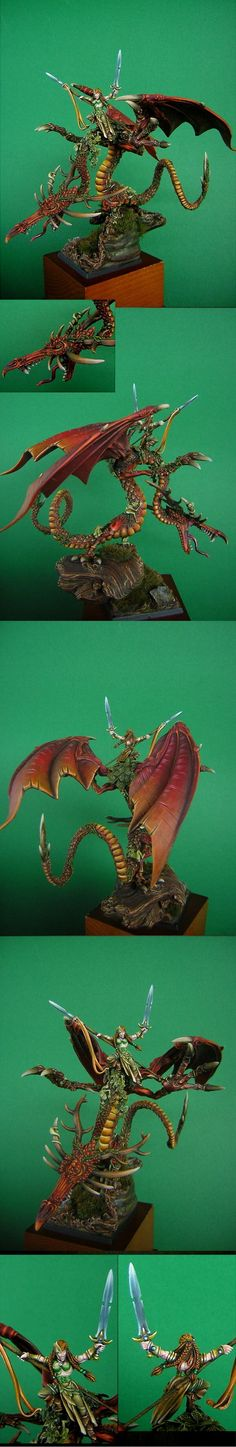 Dragon, Wood Elves, FAFNIR the Forrest Dragon Warhammer Wood Elves, Figurine Warhammer, Warhammer Fantasy, Warhammer 40k, Fantasy Battle, Fantasy Races, Forest Elf, Wood Elf, Forest Creatures