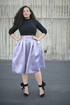 :: FULL SKIRT IN LILAC – Tanesha Awasthi :: #plussizeclothing #plussizefashion #taneshaawasthiclothing
