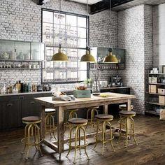 cucina con vetrata sul soggiorno - Cerca con Google | Home is where ...
