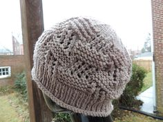 Ravelry: Sue's Lace and Garter Stitch Hat pattern by YaYa Lovestoknit