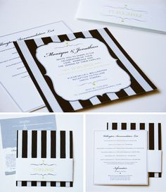 The perfect mix of style and sofistication with romance and fun, all in one invitation! Love them!!