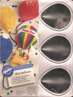 Wilton Cake Pan: Mini Balloons/Cool Critters - Mice, Insects, Turtles, Ladybugs (2105-2024, 1992) *** Check this awesome image : Baking pans