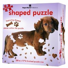 500 Piece Shaped Puzzle Dachshund.  Could get your dad & Yubby each one.lol