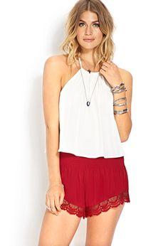 Black Crocheted Shorts - perfect for summertime!      FOREVER21 - 2000107556