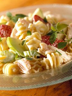 This healthy turkey and pasta salad is low-fat and packed with plenty of B vitamins, vitamin C, and protein.