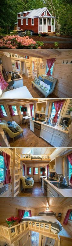 This 233 sq. tiny house is based on the Elm design by Tumbleweed Tiny House C&; Home Decors This 233 sq. tiny house is based on the Elm design by Tumbleweed Tiny House C&; Home Decors Angelika […] Homes On Wheels mobiles Tiny House Company, Tiny House Plans, Tiny House On Wheels, Small Space Living, Small Spaces, Tumbleweed Tiny Homes, Tiny House Village, Casa Loft, Tiny House Nation
