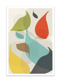FLOW no.42 Giclee Print Mid Century Modern Danish by Thedor