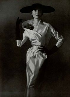 Couture Allure Vintage Fashion: Nina Ricci Dinner Dress - 1953