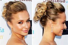 cute updo for this summer with glowy skin that i'm of course obsessed with Fancy Hairstyles, Wedding Hairstyles, Wedding Updo, Natural Hair Wedding, Cute Updo, Beautiful Hair Color, Natural Hair Styles, Long Hair Styles, Hair Color And Cut