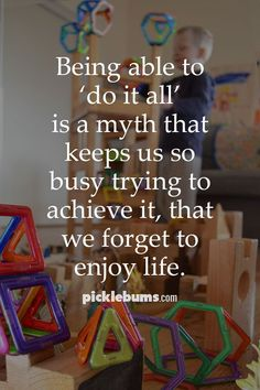 A gentle reminder for parents that doing it all is a myth and that we all have a long list of things we don't do, even when it looks like we are 'doing it all'. Parenting Articles, Parenting Quotes, Parenting Hacks, Mom Quotes, Funny Quotes, Advice For New Moms, Mindfulness For Kids, School Social Work, Attachment Parenting
