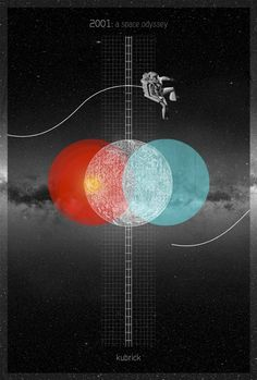 An alternative movie poster for the film A Space Odyssey, created by Laz Marquez, featured on AMP Kunst Poster, Poster S, 2001 A Space Odyssey, Plakat Design, Alternative Movie Posters, Foto Art, Interstellar, Grafik Design, Graphic Design Inspiration